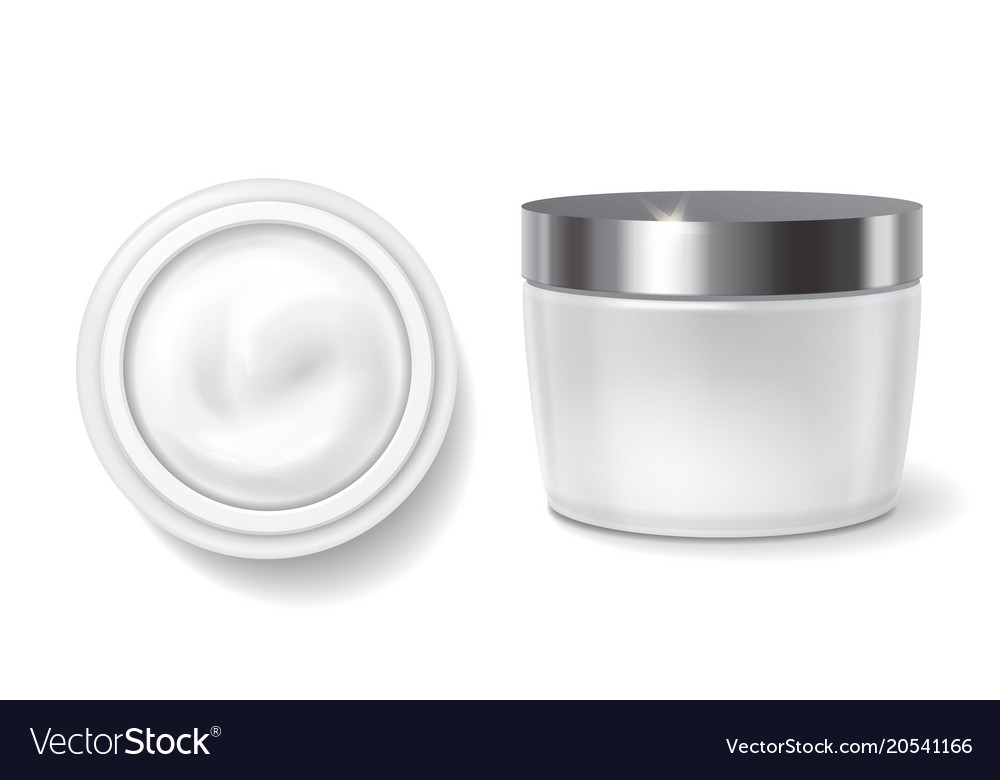 Round packaging of cream skin care jar