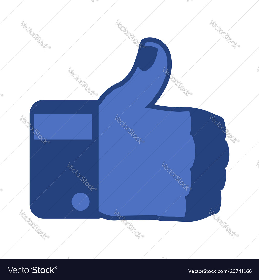 Thumbs up isolated brutal mans like symbol on
