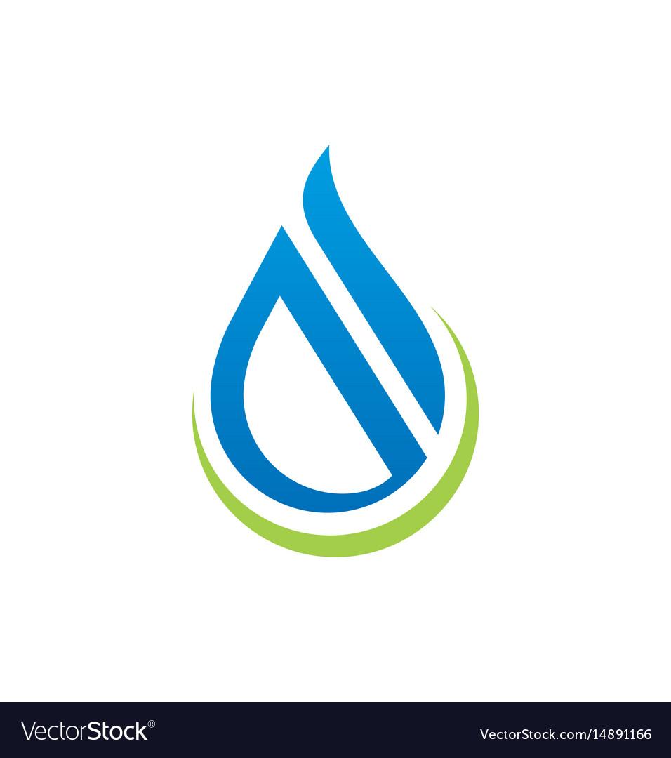 Water drop abstract shape logo