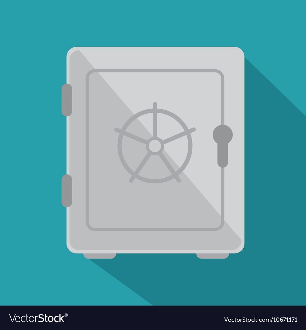Icon box safe insurance security design