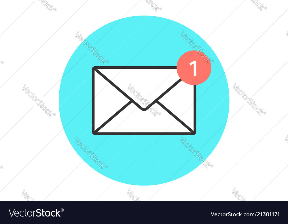 Icon new email envelope