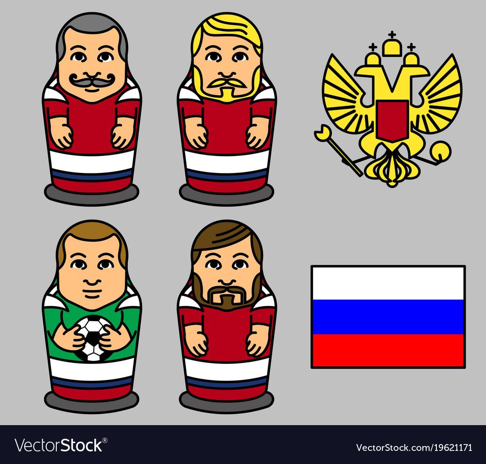 Russian soccer team matryoshka doll character