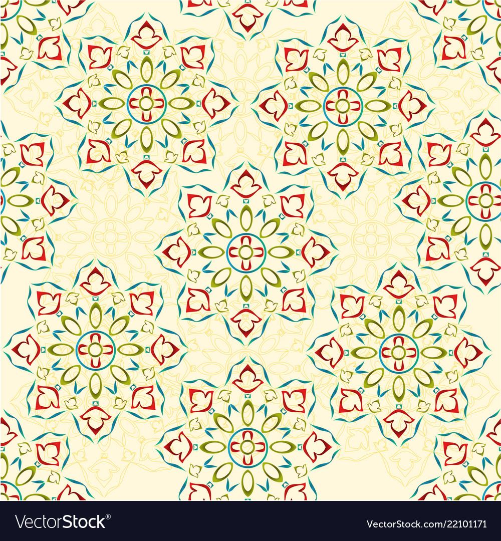 Seamless texture rosette decorative ornamental