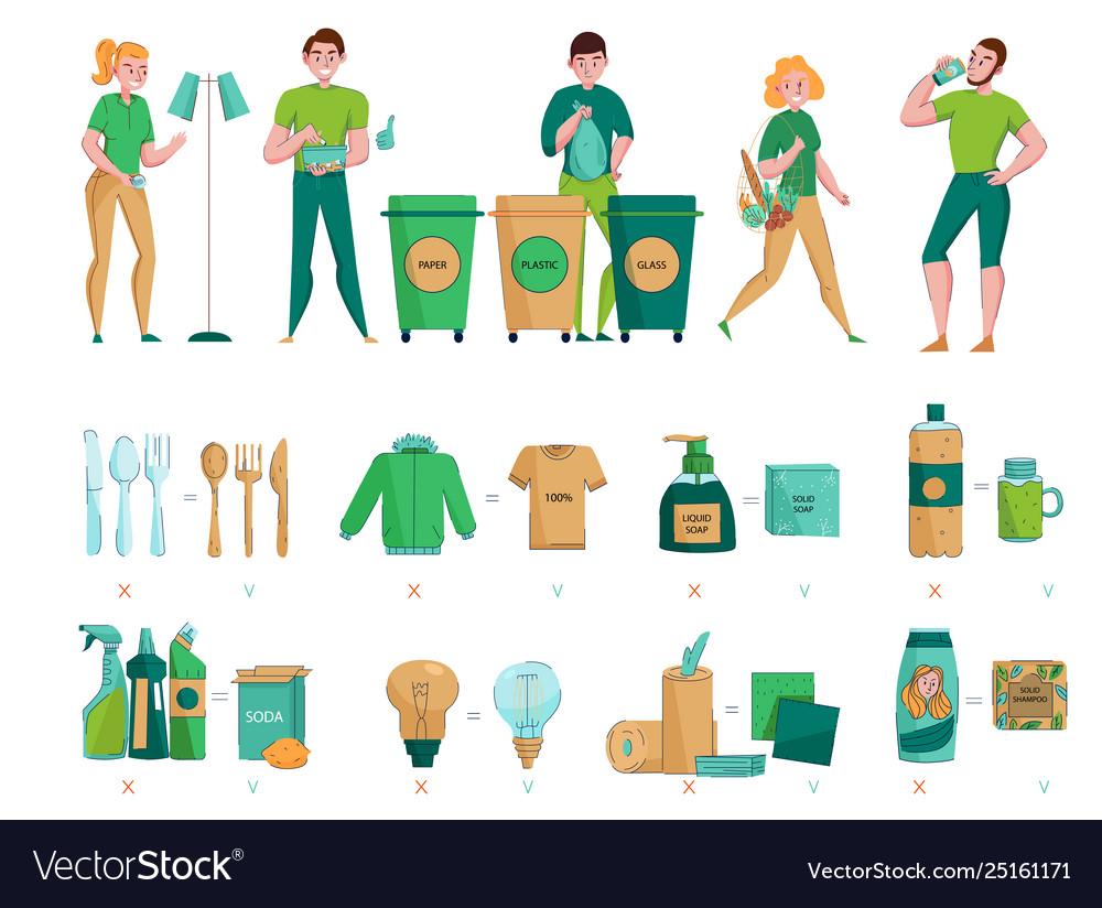 Zero waste sorting set