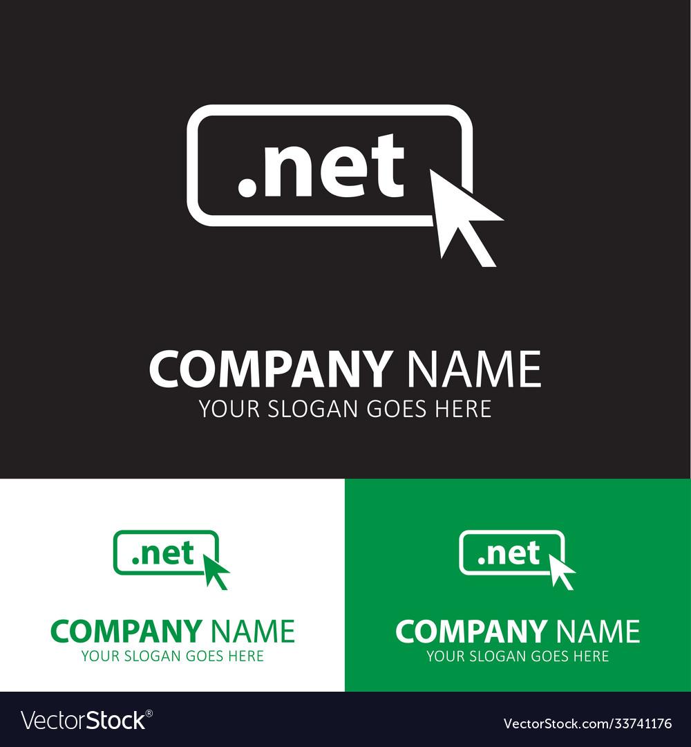 Domain net icon top-level internet