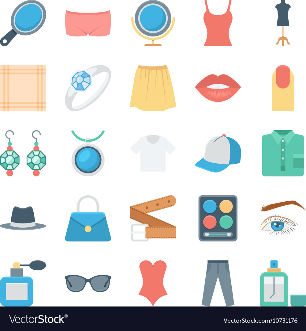 Fashion and Clothes Icons 3 vector image