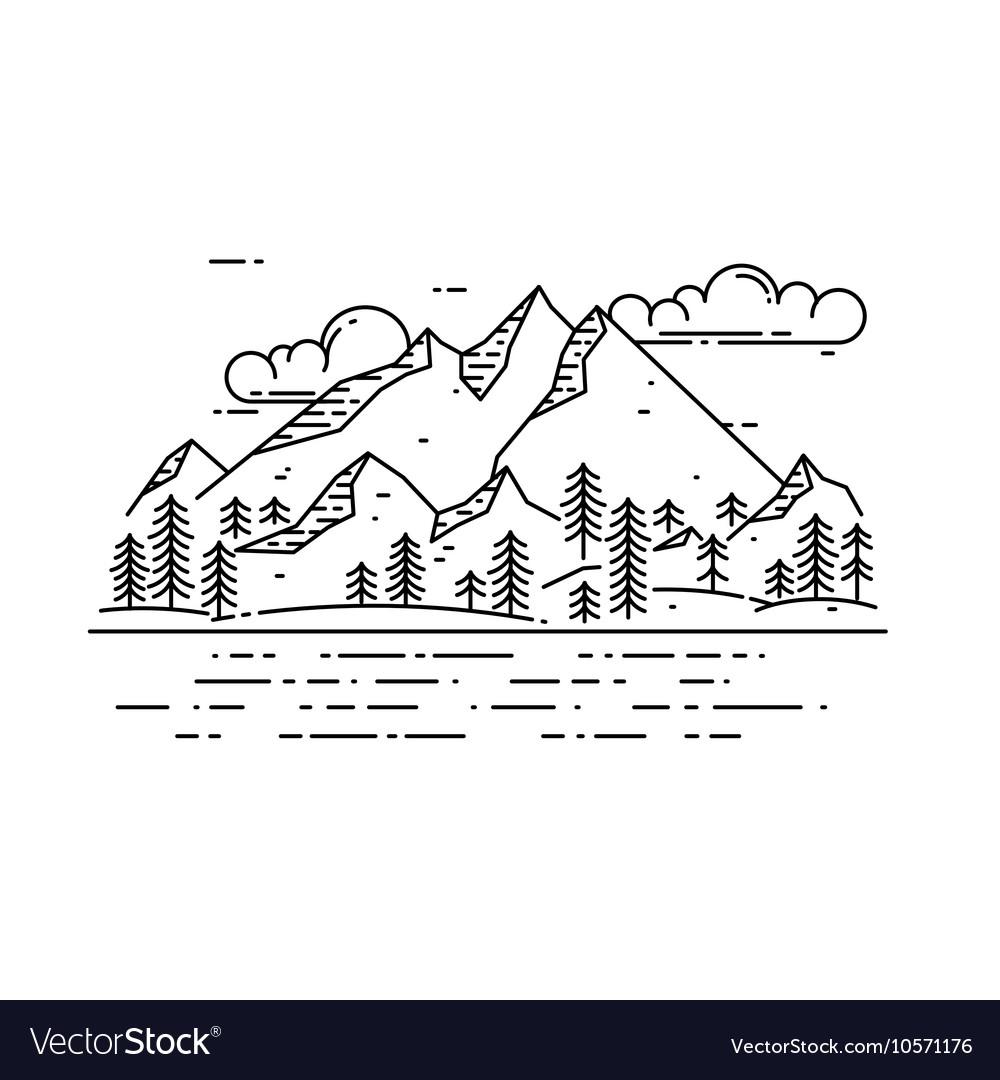 Flat linear landscape