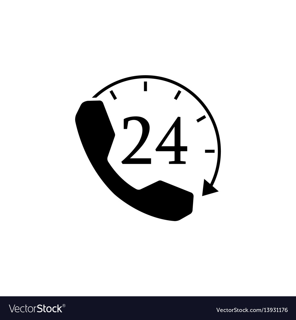 Full time call services solid icon