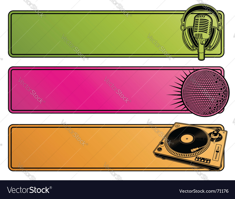 Party banners vector image