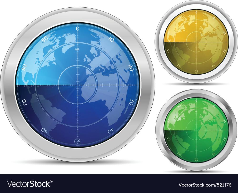 Radar collection vector image