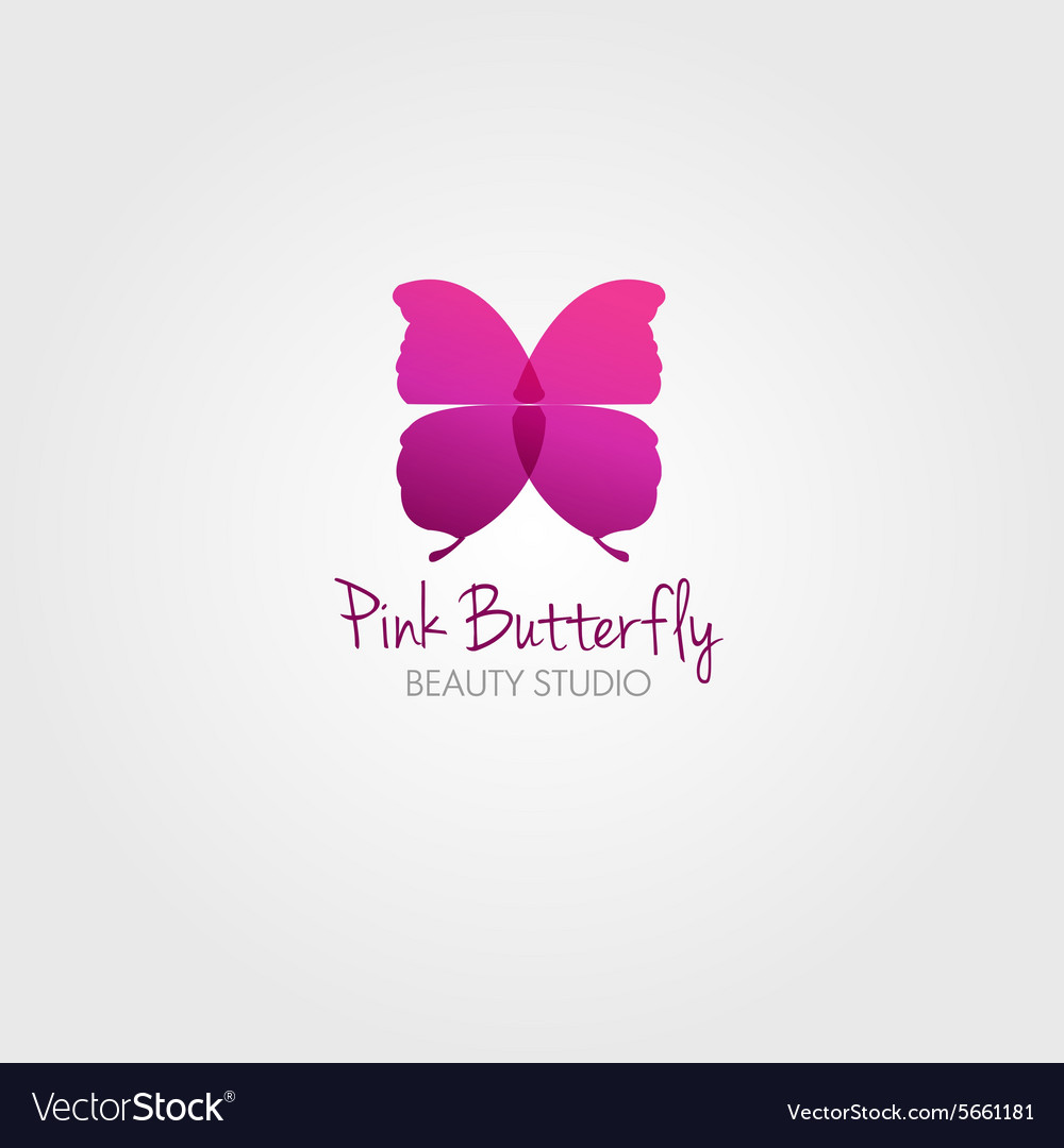 Butterfly design concept for beauty salon