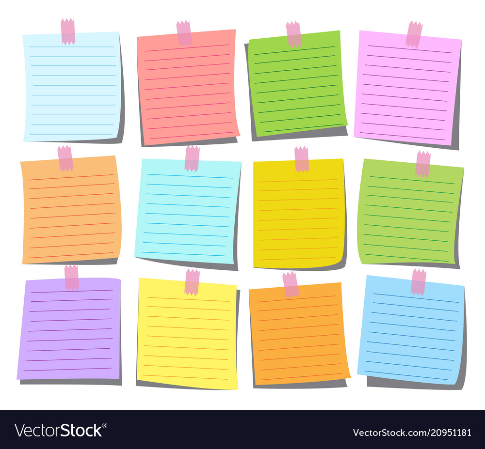 Colorful note paper set