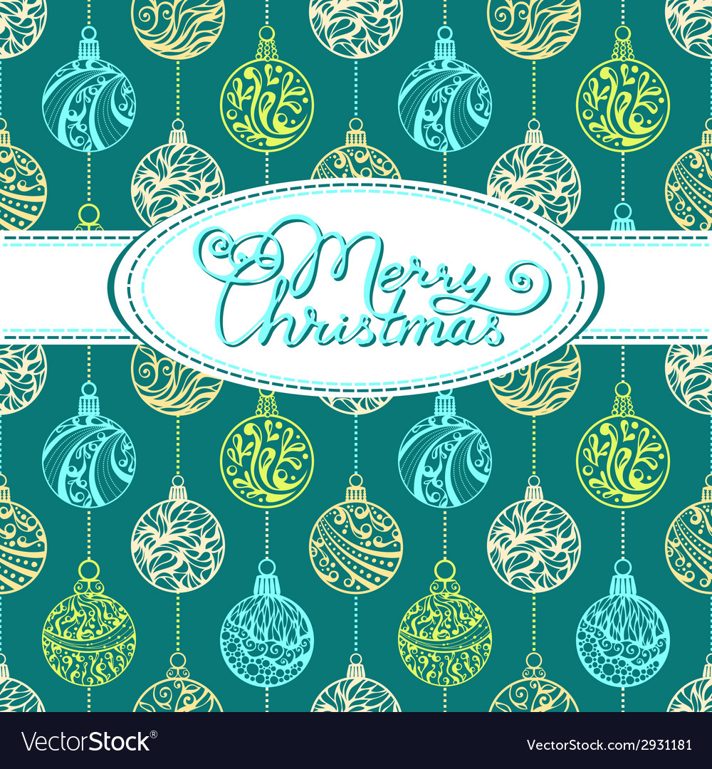 Festive background with Christmas balls vector image