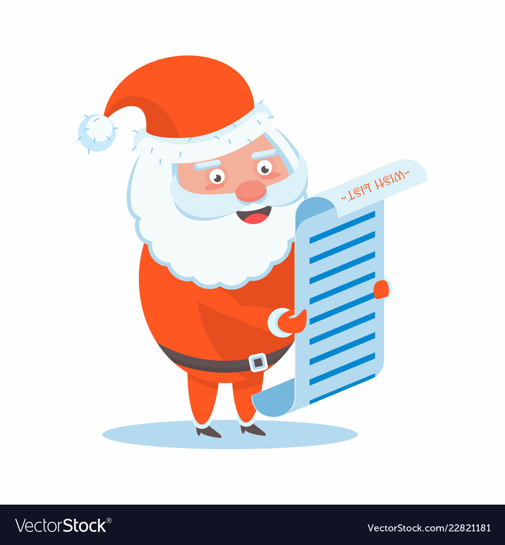 Funny happy santa claus character christmas cards