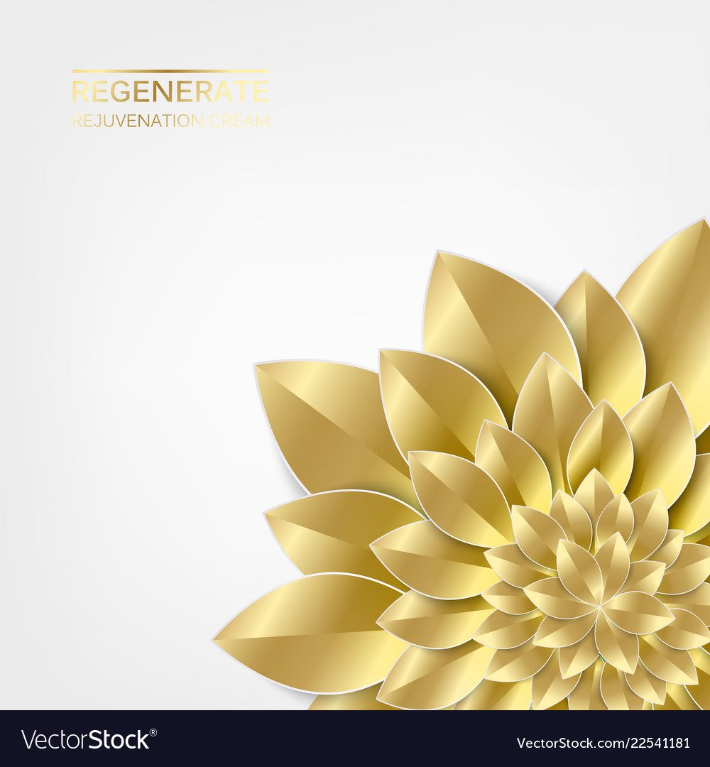 Golden leaves in form of flower isolated over