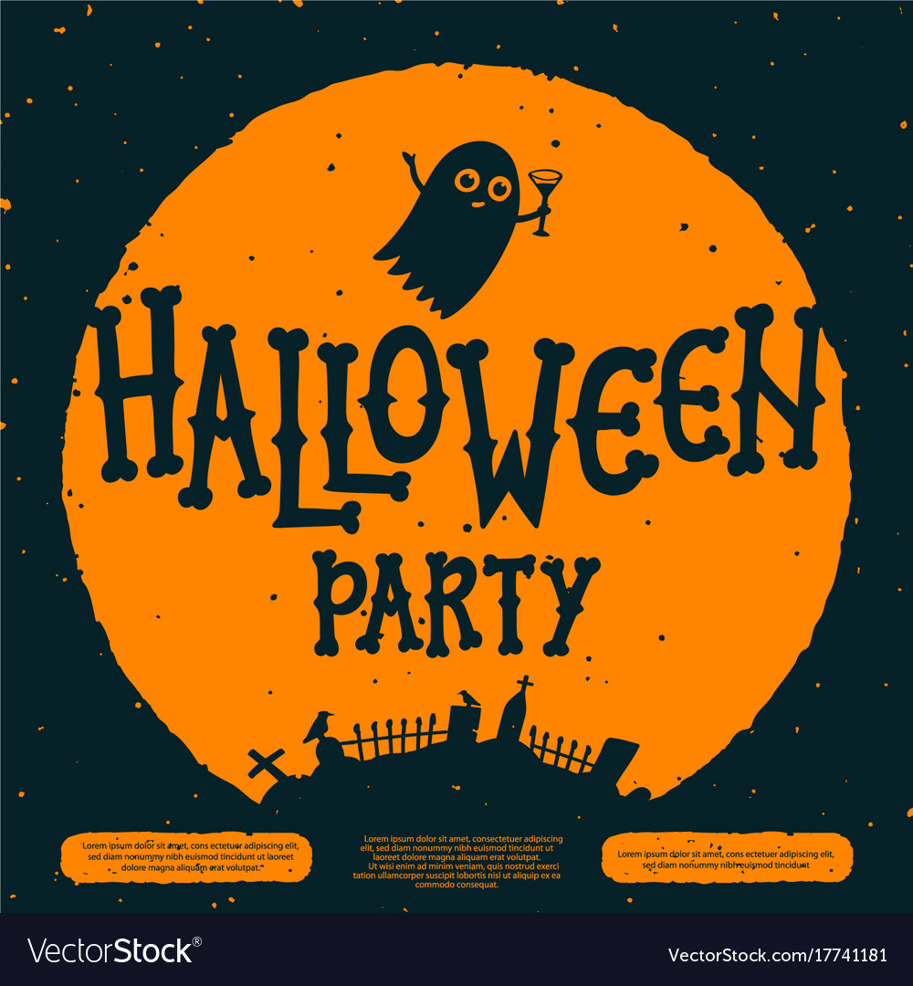 Halloween party invitation card halloween party vector image stopboris Choice Image