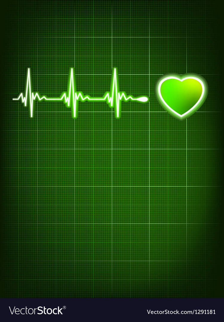 Heart beating monitor EPS 8 vector image