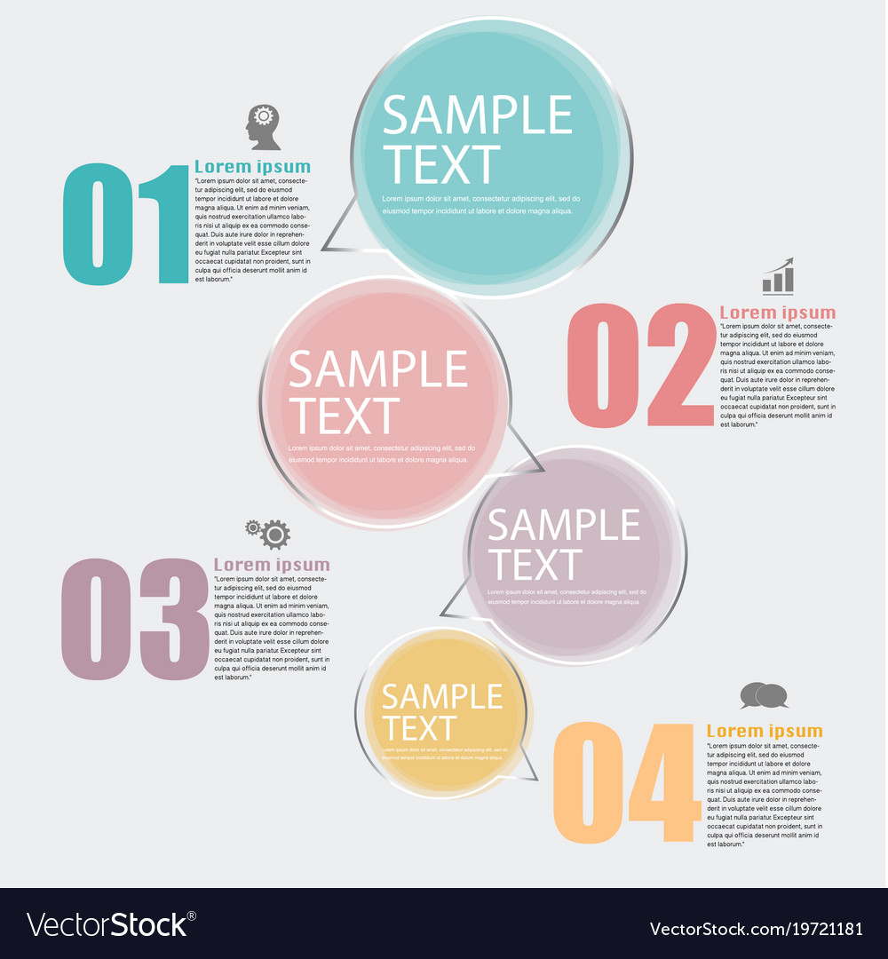 Infographic design template set and business icons vector image