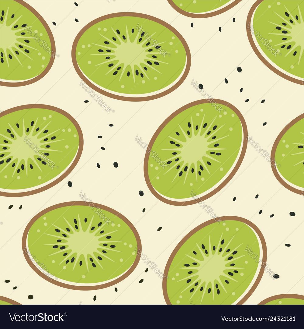 Kiwi fruit seamless background