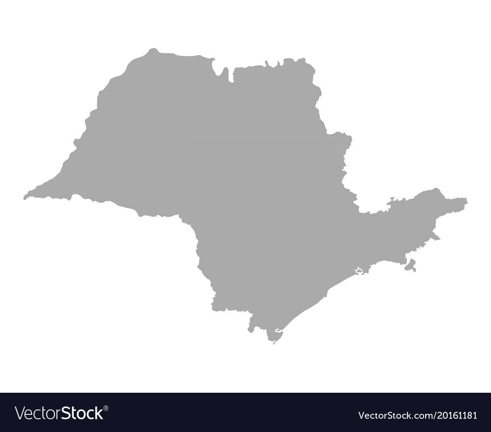 Sao Paulo State Map.Map Of Sao Paulo Royalty Free Vector Image Vectorstock