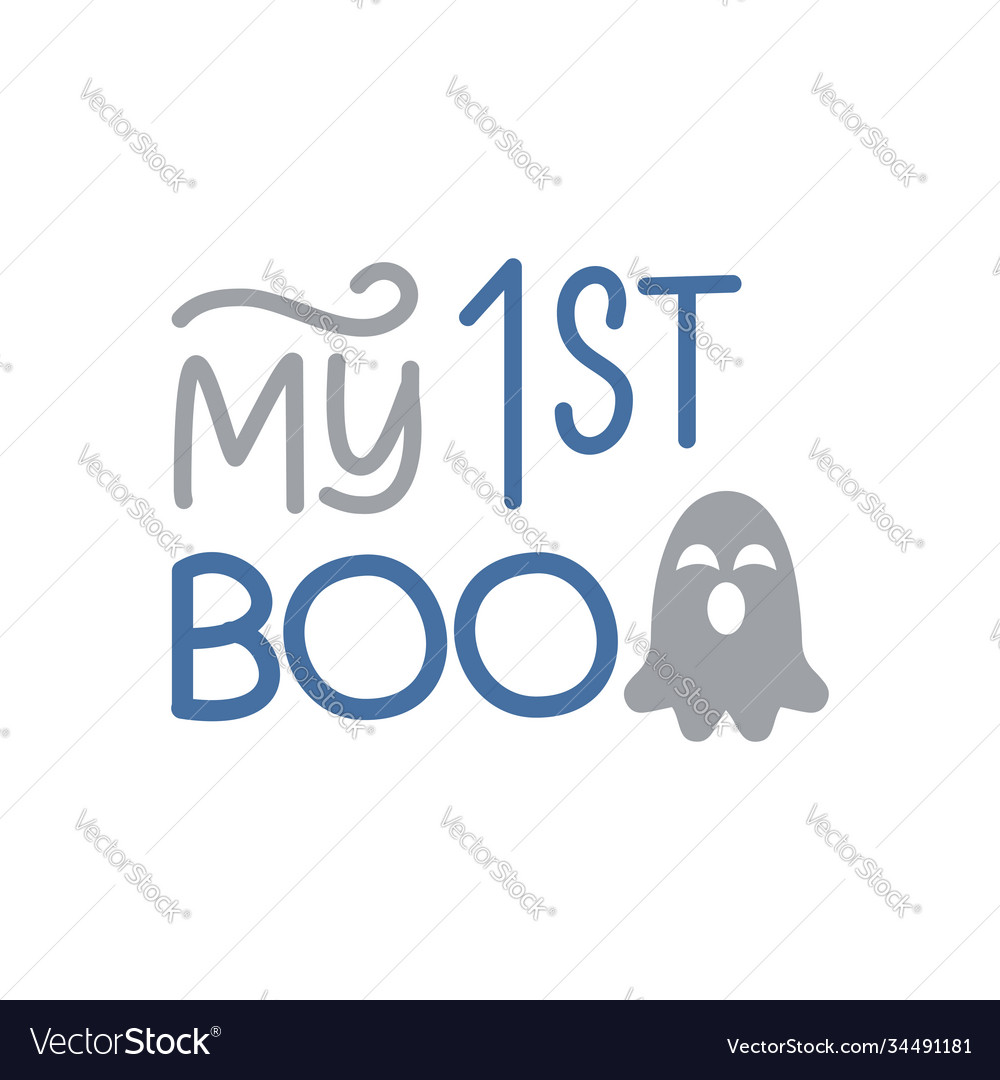 My first boo day- cute halloween greeting with
