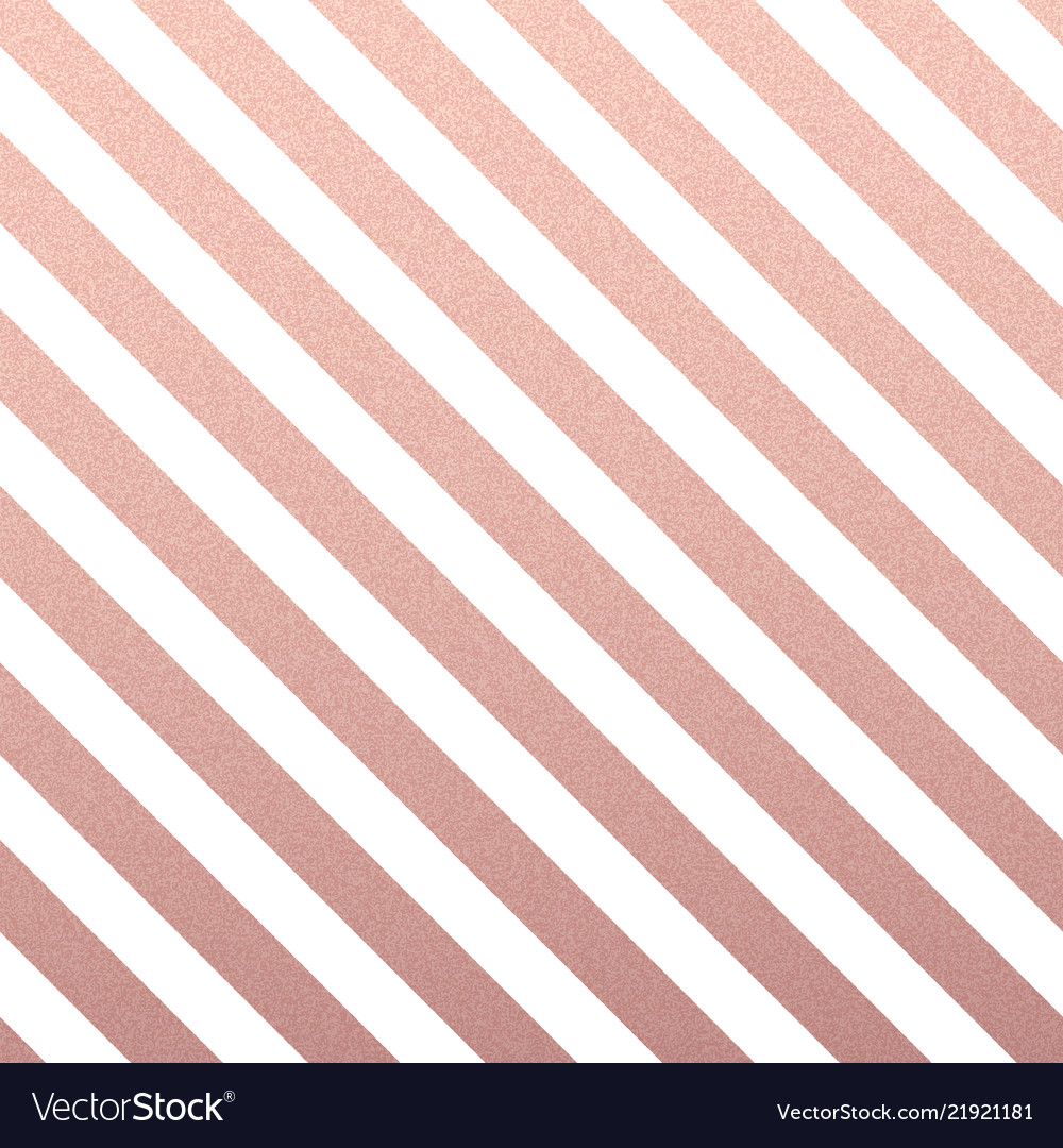 Rose gold glittering diagonal lines pattern on