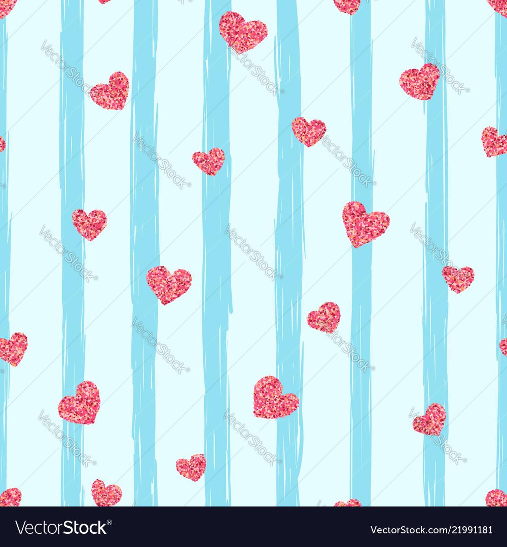 Seamless pink heart pattern love