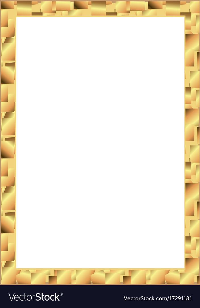Set of gold photo frame with corner thailand line