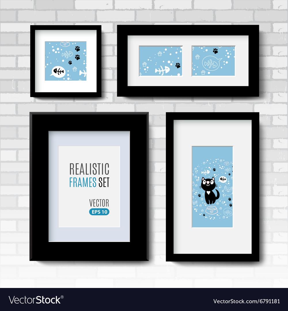set of modern blank frames template royalty free vector