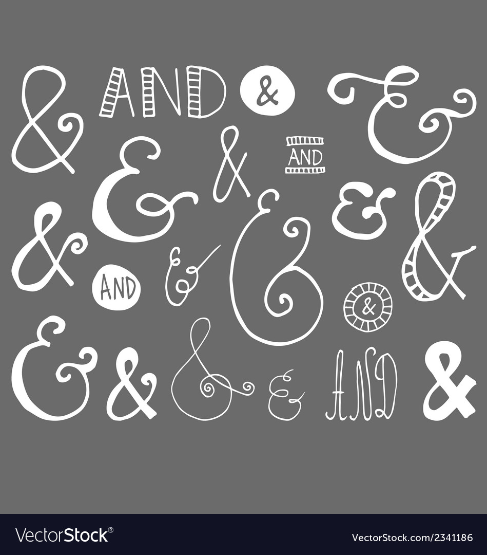 Ampersand Hand Drawn Doodle