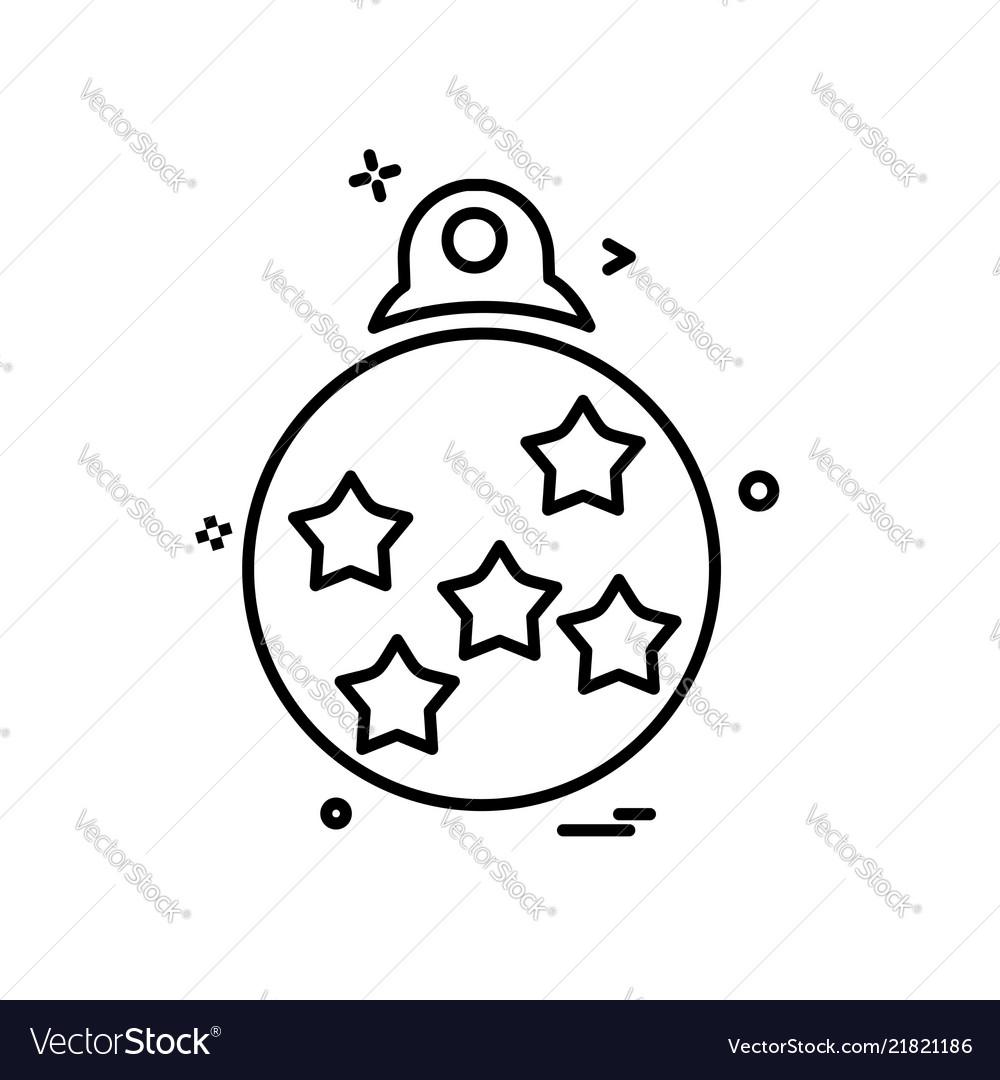 Christmas ball icon design