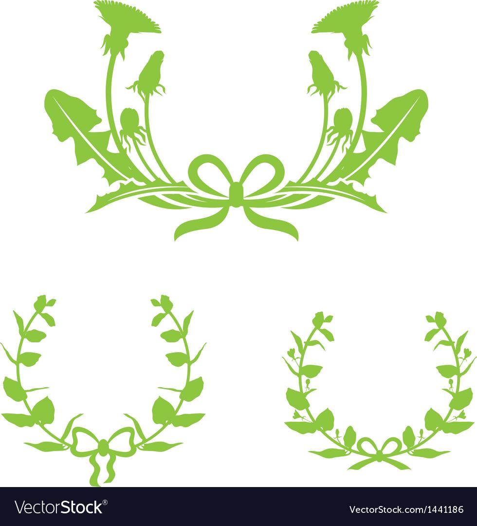 Dandelion and honeysuckle vector image