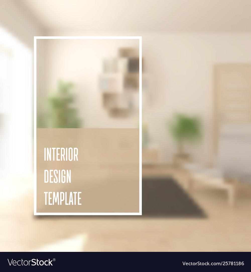 Interior design brochure cover template