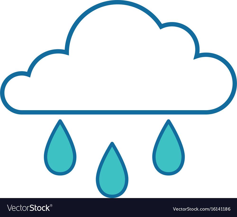 Isolated rain cloud