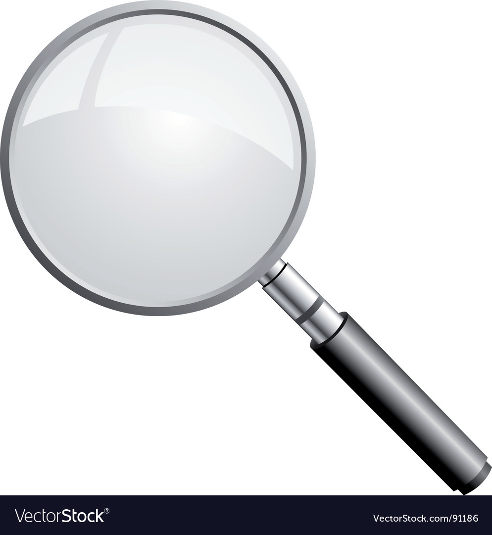 magnifying glass royalty free vector image vectorstock