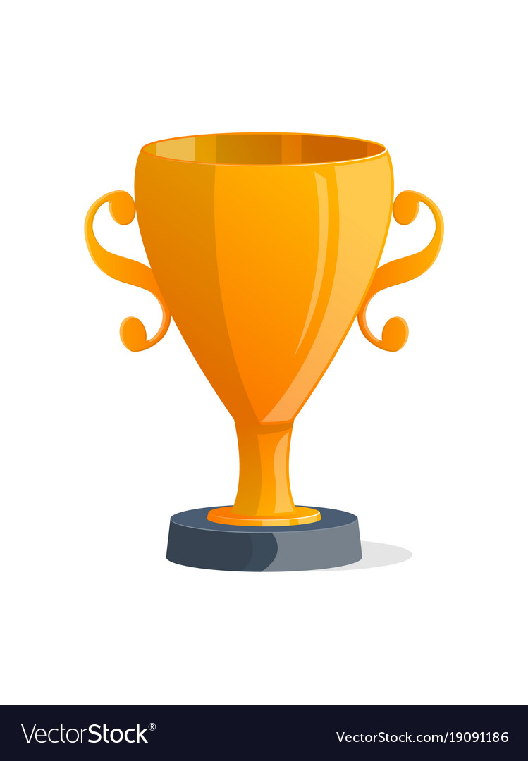 Winner trophy cup isolated icon