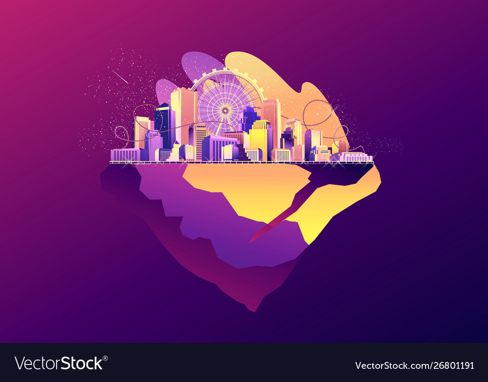 Abstract city banner