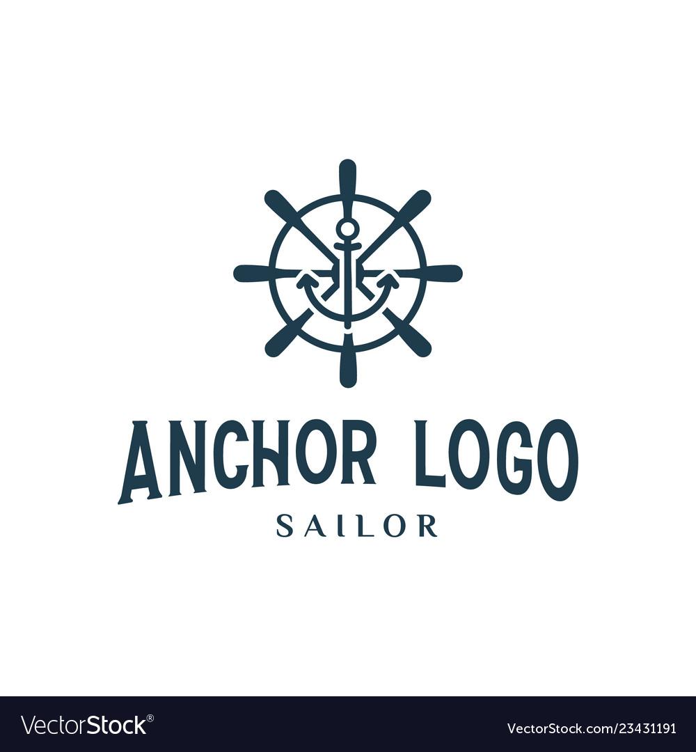 Anchor sailor logo design inspiration vintage