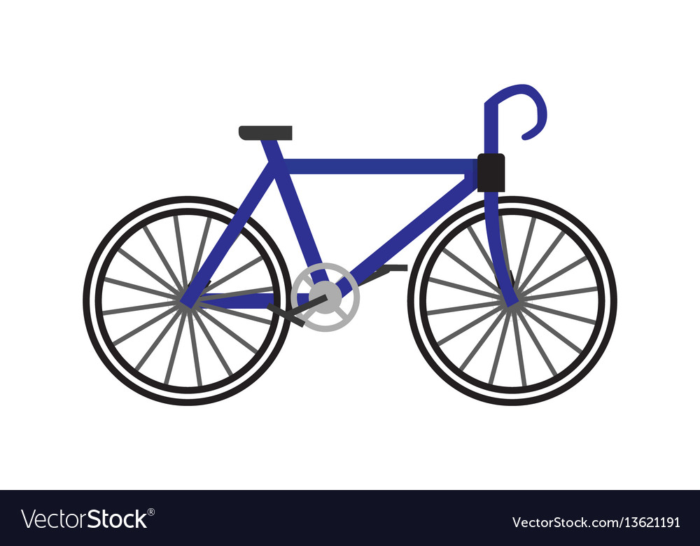 Bicycle icon in flat vector image