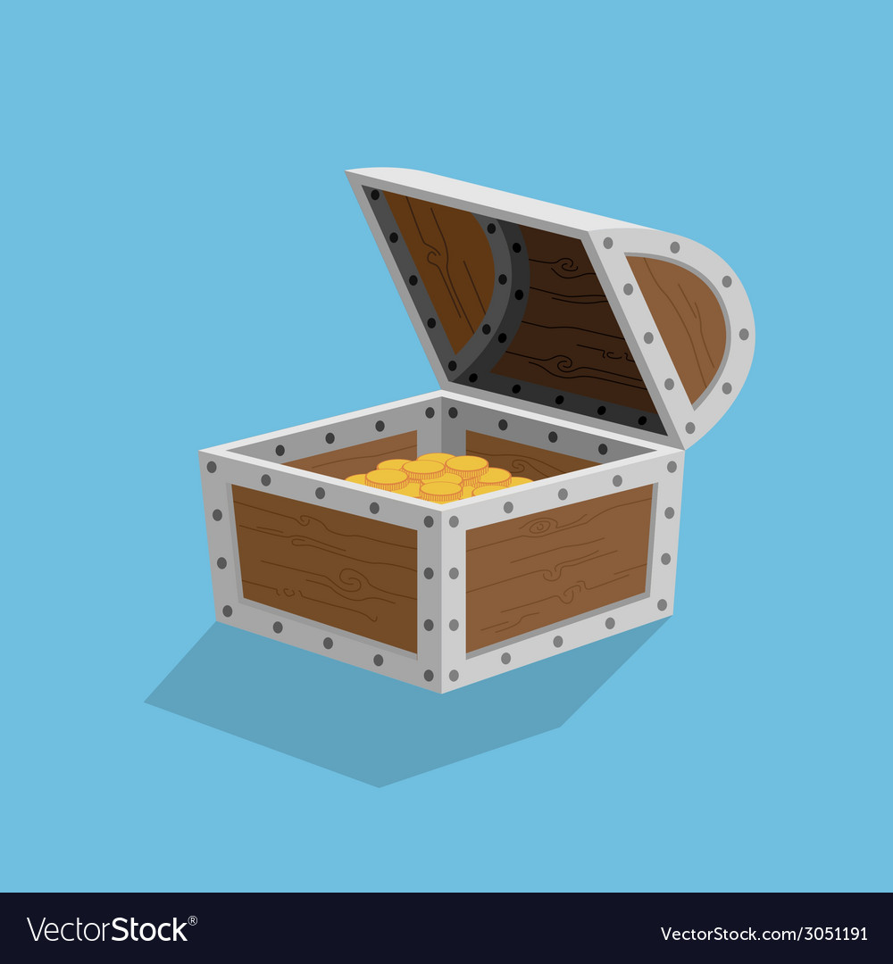 Chest vector image