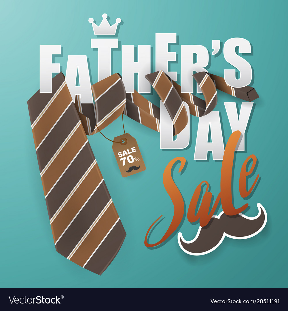 Fathers day greeting card background design with