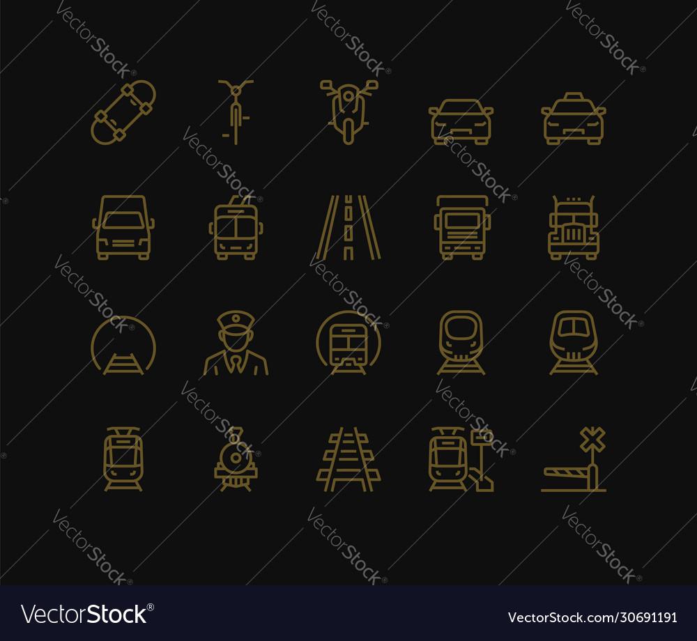 Land transport icons