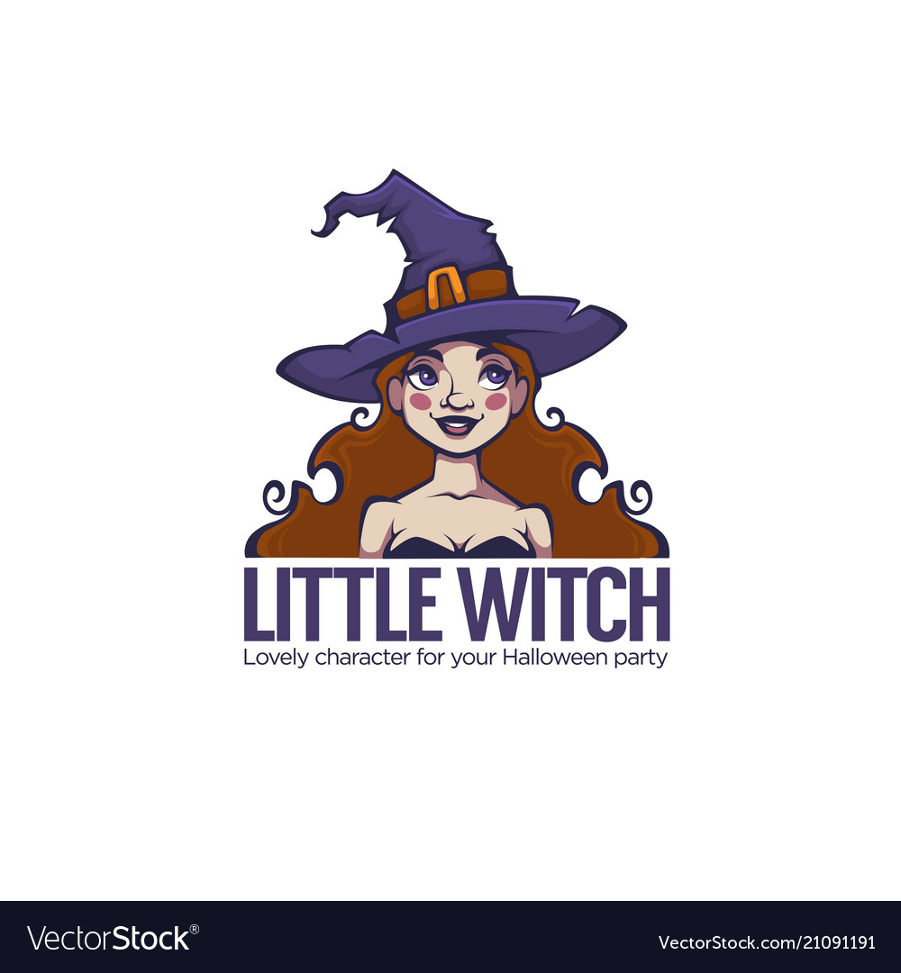 Little witch portrait of young attractive witch