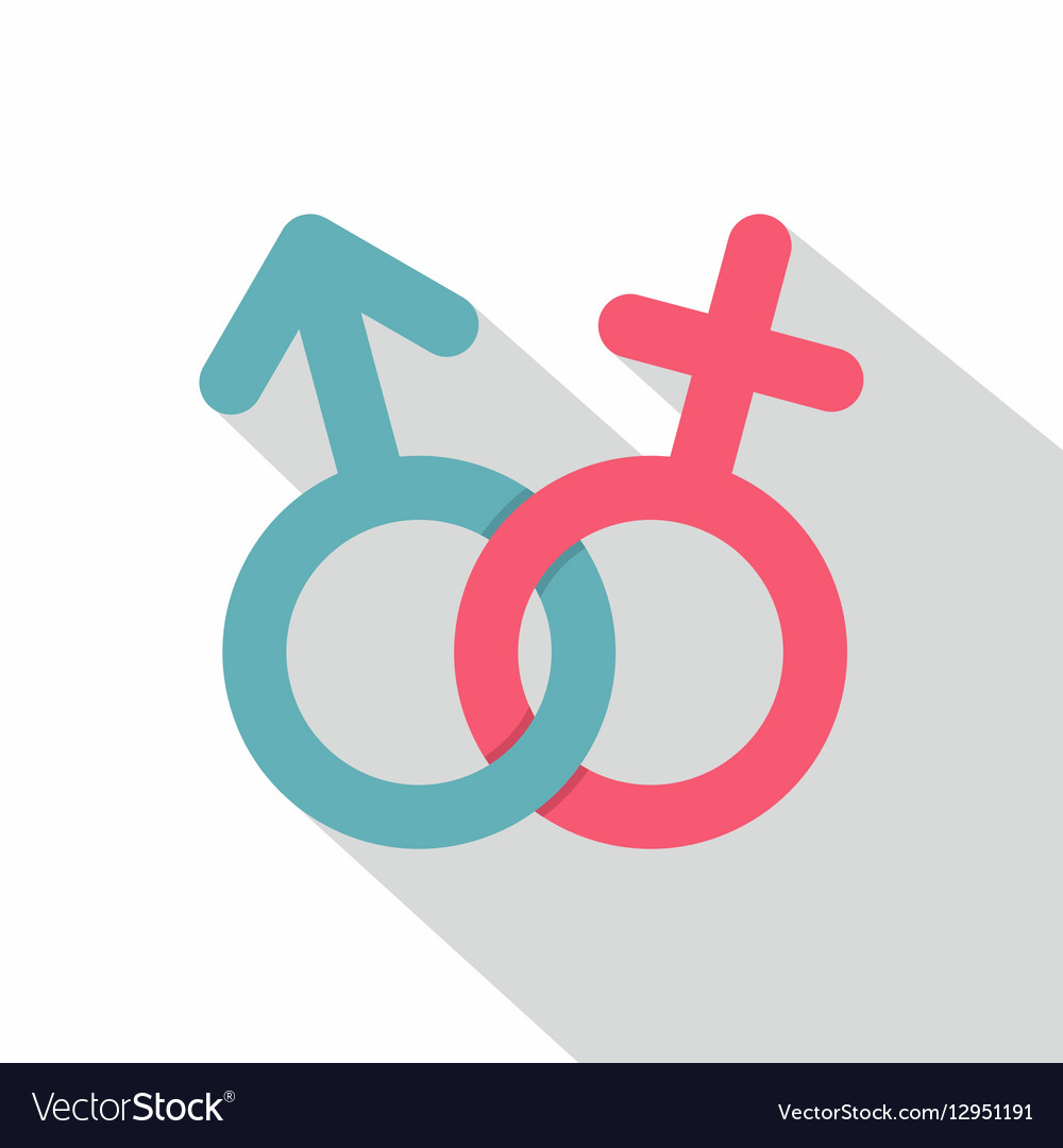 Male and female symbol icon flat style vector image