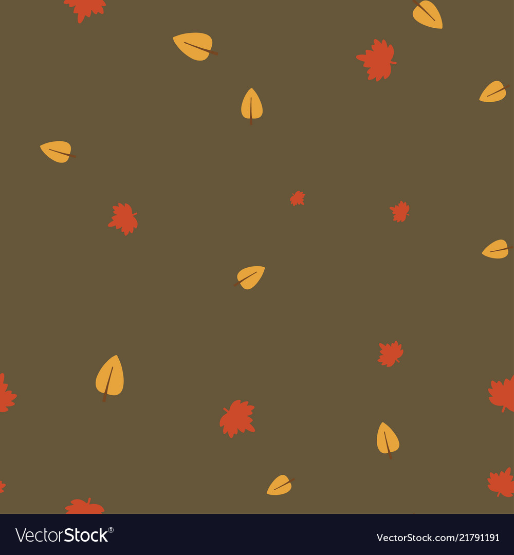 Maple and birch leaves pattern seamless color