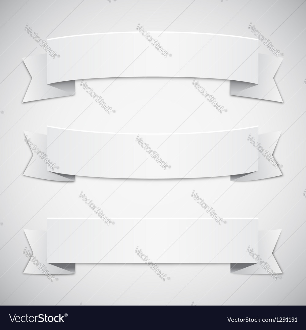 White Banners and Ribbons vector image