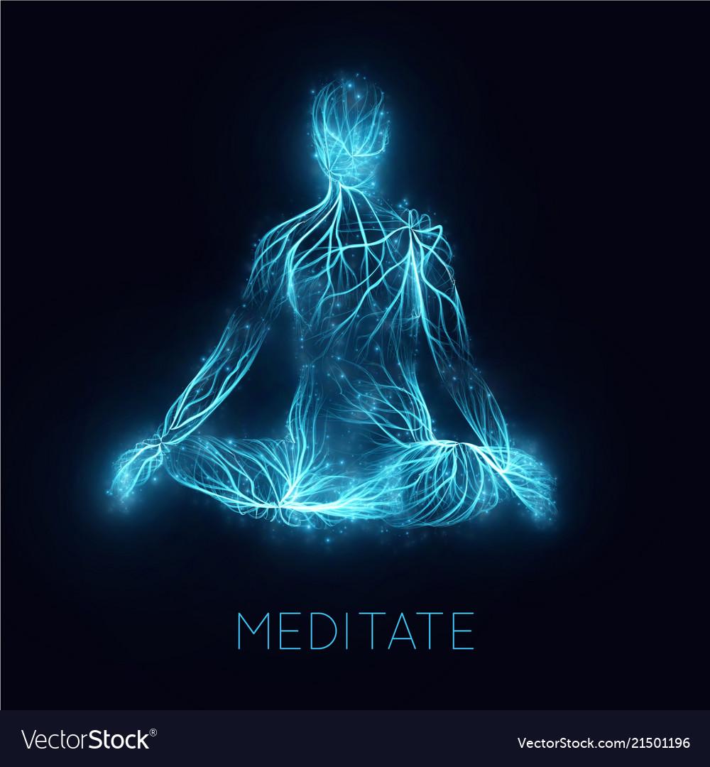 Concept human meditaion sacral energy