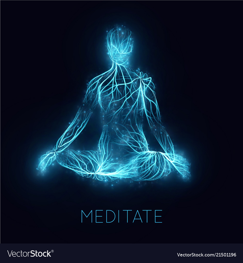 Concept of human meditaion sacral energy