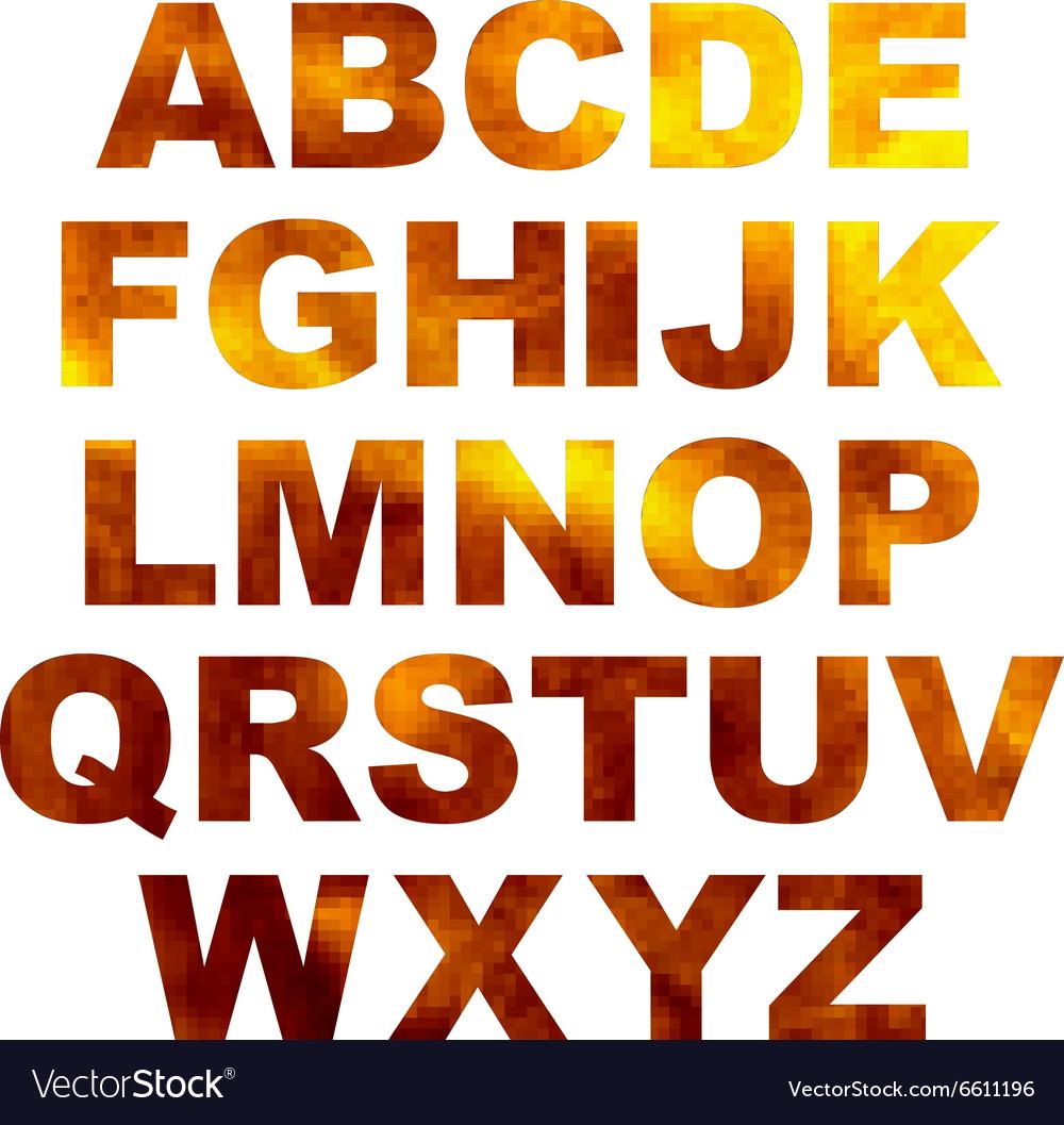 Design elements - gold 3D font Set