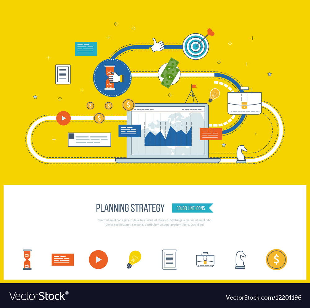 Planning strategy concept Investment growth